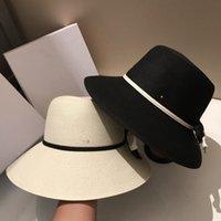 Luxusdesigner Collapsible Holiday Beach Hüte Hohe Qualität Sonnenhut Womens Breite Krempe Hüte Flut 2 Farben Fischer Hut