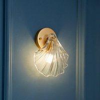 Outdoor Wall Lamps Modern Crystal Shell Shape Lamp For Bedroom Study Living Room Bedsides Led Home Lighting Fixtures 110V 220V