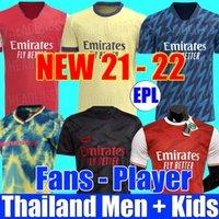 Arsenal Fans Player version 424 Maillot de football Arsen 20 21 22 artilleurs ODEGAARD THOMAS PEPE SAKA TIERNEY HENRY WILLIAN SMITH ROWE 2021 Maillot de football 2022 pour enfants