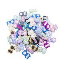LOFCA Perles Animal Silicone BPA GRATUIT pour Collier de dentition Licorne Perles Bébé Teter Eléphant Tête Toile Toy Fox Accessoires 1046 x2