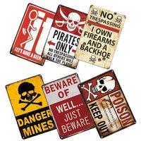 Nenhum estúpido Cuidado com placa de lata de placa de placas vintage aviso sem transgressão cartaz de estanho placas sinal homem caverna casa fazenda decoração