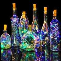 Stringhe 10/20 / 30LED String String Lights Lampada Garland Lampada Vino Bottiglia di vino Tappo di bottiglia calda Batteria bianca Energia di nozze Decorazione della casa