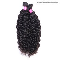 Brazilian Hair Bundle Natural Color Water Wave Unprocessed Human Hair Extensions 4 Bundles Remy Hair Body straight deep curly wave