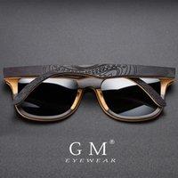 GM Brand Designer wood Sunglasses Men Polarized Black Skateboard Wood Sunglasses Vintage Eyewear Dropshipping S5832