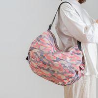 Storage Foldable Shopping Bags Large Eco-Friendly Reusable Portable Shoulder Handbag Waterproof Travel Tote Bag GWA7486