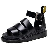 الصيف منصة martins الصنادل للنساء روما رباعي حزام مفتوحة تو أحذية صندل أزياء مع صندوق كبير الحجم 35-44