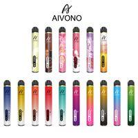 Original AIVONO AIMT STICK DESECHABLE VAPE VAPE PEN E Dispositivo de cigarrillo con batería de 1400mAh 9ml cartucho precepcedado 2500 kits de inicio de bocanadas