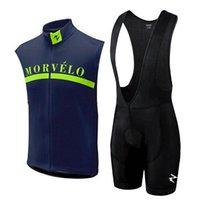 Set da corsa Morvelo Team Cycling Senza maniche Jersey Gilet Bib Shorts Uomo Estate all'aperto Quick Dry Mountain Bike di alta qualità 121510