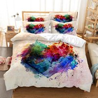 Bedding Sets King Size Set 100% Cotton Double Single Quilt Cover With Pillowcases 3 Pcs Bedroom Art Watercolor