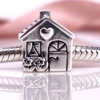Fahmi 2019 Autentica casa in argento sterling 925, dolce fascino domestico adatto fai da te braccialetto Pandora e collana di Pandora791267