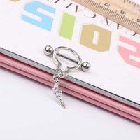 14g arma pingente unisex mamilo anel piercing jewellry 1.6 * 16 * 6 / 6mm no-infecção body jóias bordas 767 T2