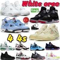 Legal cinza Homens Mens  4 4s tênis de basquete Relâmpago Eminem Encore Cactus jack tatoo Volt verde crescer Designer trainers sneakers 5-13