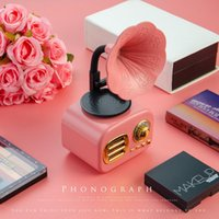 Portable Speakers Retro Bluetooth Speaker Wireless Creative Mini Outdoor Subwoofer Mobile Radio Phonograph Ft05 TF Card Stereo