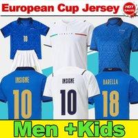 # 10 insigne # 17 immobile italy casa azul futebol jerseys 2021 homens adulto # 19 bonucci # 8 jorginho away branco camisa de futebol 21/22 # 3 chiellini uniformes de futebol kit kits