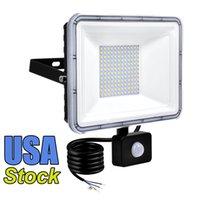 50W 30W 100W 20W Led Motion Sensor Flood Lights Outdoor Floodlight, PIR Induction Lamp, Intelligent Light, 6000K, Cool White, Super Bright Waterproof Security