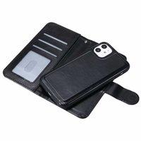 Custodia con portafoglio in pelle per telefono Magnetico 2in1 Cover staccabile per iPhone 13 12 11 Pro XS XR max 6 7 8 Plus