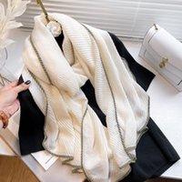 Scarves 2021 Women Warm Silk Feeling Scarf Shawls And Wraps Fashion Winter Blanket Bufanda Ladies Pashmina Hijab Echarpe Foulard