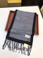 Men scarf cashmere high quality Pashmina Stole Autumn winter wool Soft warm Thick Letter sciarpe Luxurys printed Shawl women size 180*35CM
