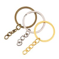 Keychains Aessorieskeychains Fashion Aessories Key With Chain Sier Gold Bronze Color Metal Split Keychain Ring Parts Jump Rings Drop Deliver