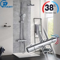 Thermostatic Shower Sets Bathroom Faucet And Cold Mixer Brass Bathtub System