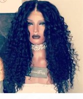7A 250% Density Malaysian Virgin Hair Deep Curly Lace Frontal Human Hair Wig Glueless Full Lace Human Hair Wigs For Black Women