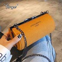Ybyt 2021 мода круглый мини-кродрь сумки для женщин nubuck pu кожаная леди цилиндр сумки продажа цепь девушки сумка