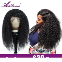 Alidoremi Afro Kinky Curly Wig Lace closure Human Hair Wigs Remy Brazilian Hair 4x4 13x4 Wig Pre Plucked With Baby