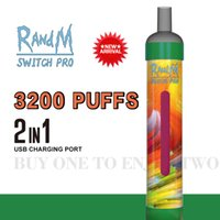 Original RandM switch pro 3200 puffs disposable cigarette 2 in 1 vapes