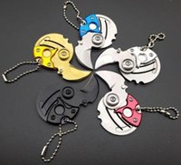 Mini Creative Coin Folding Knife Key Chain Pendant Lock Pocket Survive knives Outdoor Safety Defense EDC Tools HW493