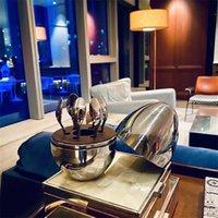 أثاث منزلي العصرية كريستفيل باريس مزاج القهوة ملعقة عدة تصفيح الفولاذ المقاوم للصدأ البيض الشاي ملعقة مجموعة 599 S2