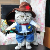 Pet Supplies Dog Clothes Upright Pirate Outfit Dog Clothes Police Doctor Standing Outfit Guitar Transfiguration Funny Outfit