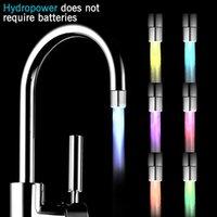 Andra kranar, duschar accs ledd tri-färg belysning kran streamer kök badrum dusch munstycke huvud färg byte temperatur sensor l