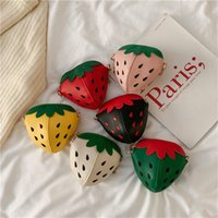 Cute Mini girls fashion Strawberry kids bags girl shoulder bag kids messenger bags kid purse childrens 2605 Y2