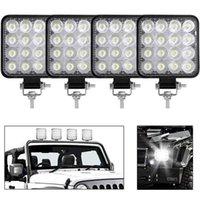 Mini LED 48W 7200 LM LED Work Light Bar carré Poutre tache 24V 12V hors route Barre de lumière LED pour camion 4x4 4WD voiture SUV ATV IP67