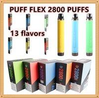 Puff Bars Flex 2800 Puffs E Zigaretten Einweg-Vape-Stift 1500mAh-Akkus 10ml-Hülsenkassetten vorgefüllter Verdampfer tragbare Dampfkits Pk Bang XXL Luftbar