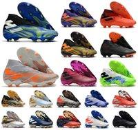 2021 رجل نيميزيز ميسي ري ديل بالون .1 19+ laceless fg superlative Uniforia حزمة SuperSece + X أحذية كرة القدم كرة القدم أحذية الكاحل عالية المرابط