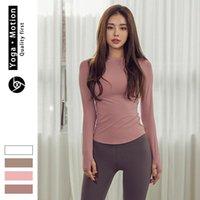 Herbst Wintersport Fitness Yoga Kleidung Tops Online Celebrity Einfache Stretch Langarm T-Shirt Frauen Outfit