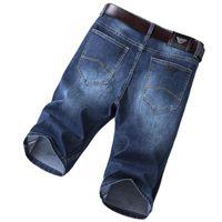 남자 청바지 데님 반바지 2021 여름 탄성 슬림 블루 이글 브랜드 스트레이트 5 포인트 바지 패션 캐주얼 의류
