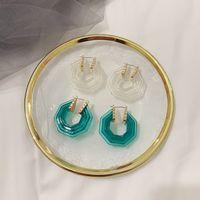 Orecchini esagonali Donne Resina Modo Earring regalo per amore fidanzata Accessori per gioielli per il partito regalo di alta qualità 302 J2