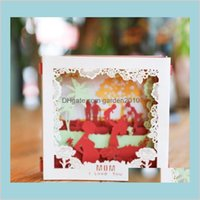 Greeting Cards Event & Party Supplies Festive Home Garden 3D Pop Up I Love Mom Paper Month Birthday Christmas Mothers Day Gift Drop De