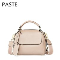 Evening Bags Solid Color Wide Strap Shoulder Bag For Women Cowhide Leather Designer Handbag Light Pink Cross Body Drop