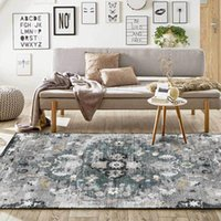 Carpets Vintage Floral Persian For Living Room Ethnic Home Decoration Salon Bedroom Chair Cushion Non Slip Foot Mats Floor Rug
