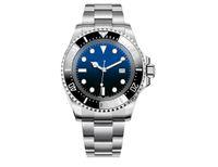 44 mm Nuevo Swiss 116610 Cerámica Bisel negro Negro Verde azul Verde 5 Color Reloj Ajustable Correa Automática Movimiento Deportivo Reloj Mar Mar Mar