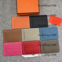 Suportes de Cartões de Alta Qualidade para Cartões de Crédito Carteiras Curtas Mulheres Homens Unisex Moda Cowskin Genuine Leather vêm com caixa