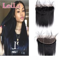 Brazilian Virgin Hair 13X4 Lace Frontal Closure Queen Product 9A Straight Hair With Baby Hair Human Lace Frontal