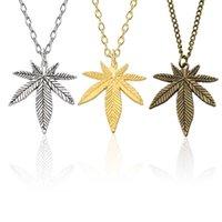 Mode Trendy Ahornblatt Halskette Hanf Anhänger Charm Kette Für Frauen Männer Geschenke Schmuck Zubehör Lange 50 cm
