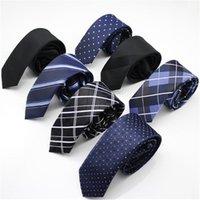 Cravate Mens chaud 100% Crêt de soie Classic Hommes Business Cravate de mariage officielle 5cm Zipper à rayures à rayures faciles Terrasse Fashion chemise robe accessoires