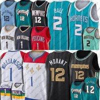 12 Ja Morant Jersey Russell 4 Westbrook Jerseys Basketball Jaren 13 Jackson Jr Lamelo 2 Ball Jersey Collin Anthony Sexton Edwards Jerseys
