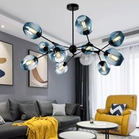 Chandeliers Modern Pendant Lamps Lights White Color Led Chandelier For Living Room Dining Hand Blown Glass Hanging Lamp Kitchen