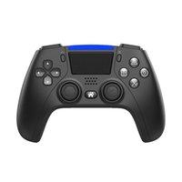데이터 개구리 P4 블루투스 무선 게임 컨트롤러 PS4 콘솔 PC Android 휴대 전화 6 축 듀얼 진동 게임 패드 조이스틱 스팀
